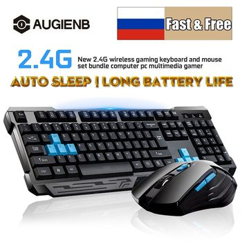 2.4G Wireless Connection Gaming Keyboard & Mouse Set Splashproof Auto Sleep Long Battery Life for Office Home computer gamer 1