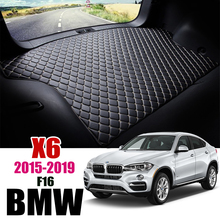 Leather Car Trunk Mat For BMW X6 F16 2015 2019 Cargo Liners X6 Liner Pad BMW F16 Trunk Boot Mat  Carpet Tail Cargo pad 2018 2017