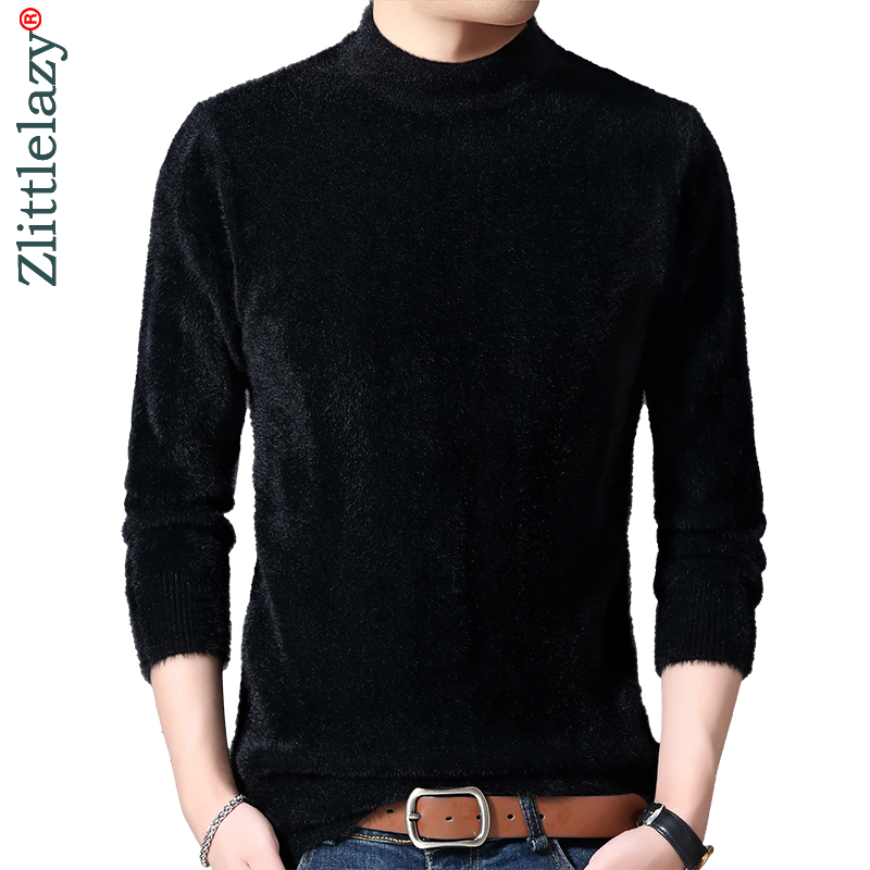 2019 Casual Thick Warm Winter Solid Knitted Pull Sweater Men Wear Jersey Dress Pullover Knit Mens Sweaters Male Fashions 02102
