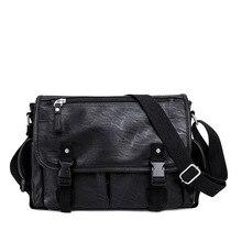 Luxury PU Men Briefcase Bag Fashion Business Bag Casual Style Office Handbag Document Case Shoulder Bag