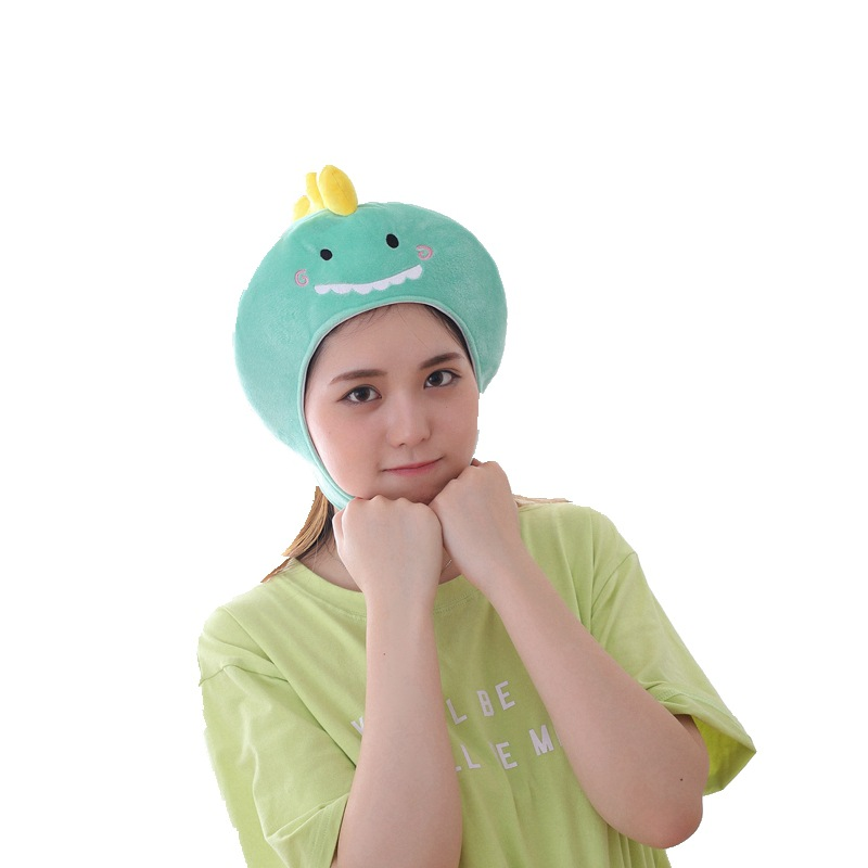 Cute Plush Short Dinosaur Headgear Hat Photo Props Photo Props Plush Hoods Halloween Hats Holiday Gifts