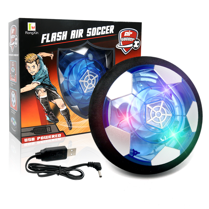 Suspended Football Toys Air Cushion Floating Foam Football Indoor Electric With LED Light Flashing Soccer Kids Gliding Toy