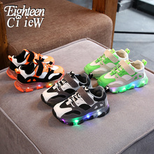 Size 21-30 Glowing Sneakers for Children Boys Shoes with Lum