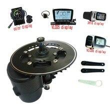 送料無料TSDZ2 midmotor VLCD6/XH18 36/48v 500ワット/750ワットtongsheng電動自転車キットトルクセンサ6 12vヘッドライト付属