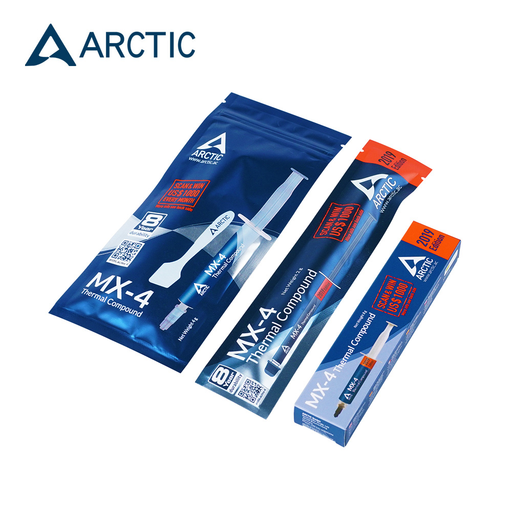 ARCTIC Fresh MX-4 2g 4g 8g Processor,CPU GPU Thermal Grease, 8.5w/(mk) Conductive Heatsink Plaster ,Seller Recommend