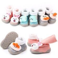 Winter Warm New Kid Shoes Plus Velvet Infant Footwear Breathable Flat Non-slip Sneakers Toddler Knit Baby Cartoon Prewalker