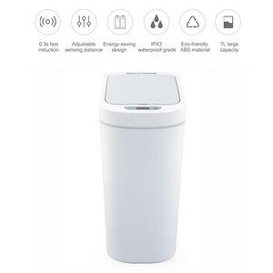 Image 4 - Mijia NINESTARSสมาร์ทถังขยะMotion SensorซีลอัตโนมัติLED Induction Cover 7/10Lบ้านAshbinถังสำหรับXiaomi smart Home