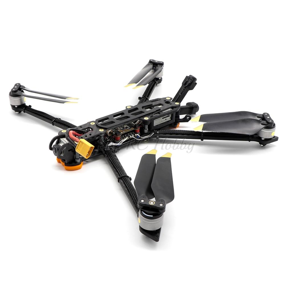 Andy HD8 350mm 350 Kit de cadre Freestyle quadrirotor de 8 pouces avec 5mm bras pièces d'impression 3D en TPU/8331 hélice pour Drone de course FPV