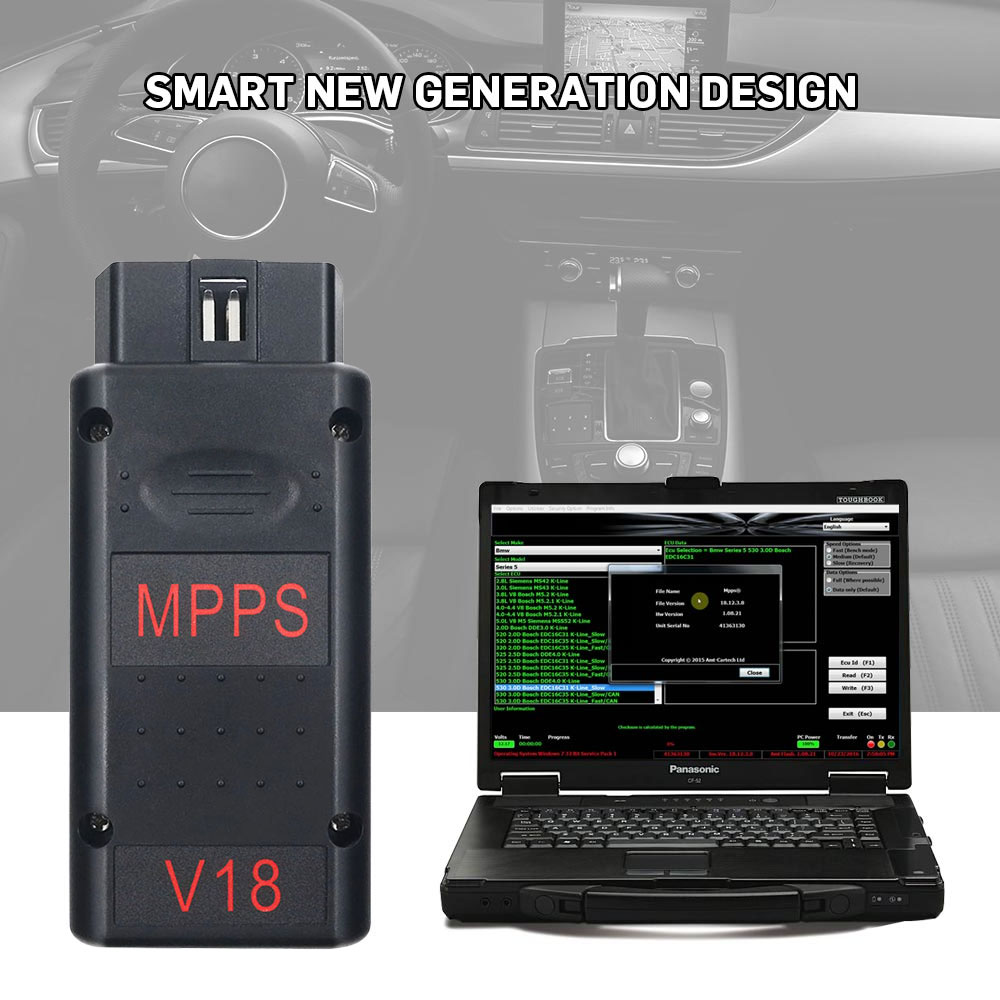 Mpps V16 V18 Ecu Chip Tuning Scanner For Edc15 Edc16 Edc17 Inkl Checksum Support Multi-language Professional Mpps 18 Ecu Scanner