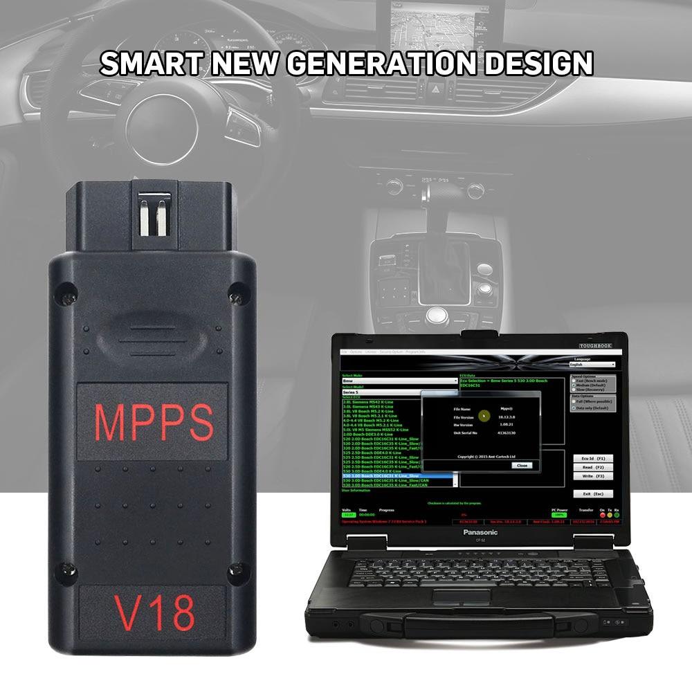 Mpps V16 V18 Ecu Chip Tuning Scanner For Edc15 Edc16 Edc17 Inkl Checksum Support Multi-language Professional Mpps 18 Ecu Scanner