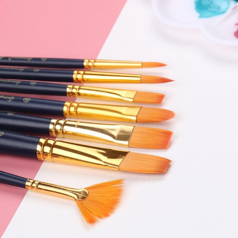 12pcs Paintbrush Sets Tong Peak Drawing Brush Pen Set Art Gouache Water Color DIY Art Craft Oil Painting Tools Peak