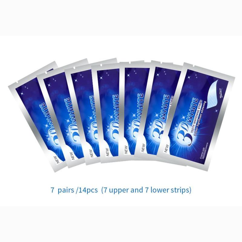 14Pcs 3D White Strips Professional Oral Teeth Whitening Strips Oral Hygiene Teeth Whitening Dental Care