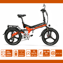 Folding Electric Bike 20 inch 500W Mountain Electric Bicycle Booster Bicycle 48v 10AH Lithium Battery E-bike XF590