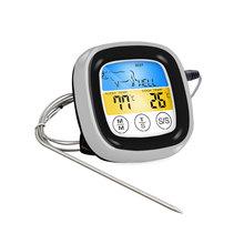 Do gotowania żywności Bluetooth bezprzewodowy termometr do grillowania z sześcioma sondami i timerem do piekarnik mięso Grill tanie tanio CN (pochodzenie) C01729 Termometry kuchenne Z tworzywa sztucznego Cyfrowy -20-300℃ 75*75*25MM 115g kitchen Thermometers