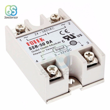 Solid State Relay SSR-50DA SSR-60DA SSR-75DA SSR-100DA 50A 60A 75A 100A 3-32V DC TO 24-380V AC SSR 50DA 60DA 75DA 100DA 2 channel ssr solid state relay high low trigger 5a 3 32v for arduino uno r3 new