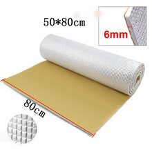 6mm Thick Car Panel KTV Interior Sound Noise Insulation Pad Cotton Mat Universal for boots, wheel arches, body panels, floors(China)