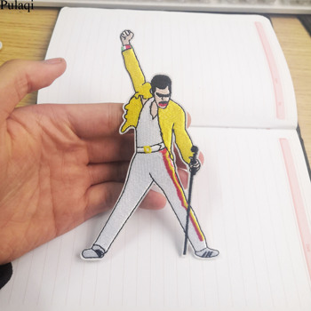 Pulaqi Freddie Mercury Embroidered Iron On Patches Clothing Apparel Appliques Cosplay Jersey Wallet Shoes Badge Sticker Washable image