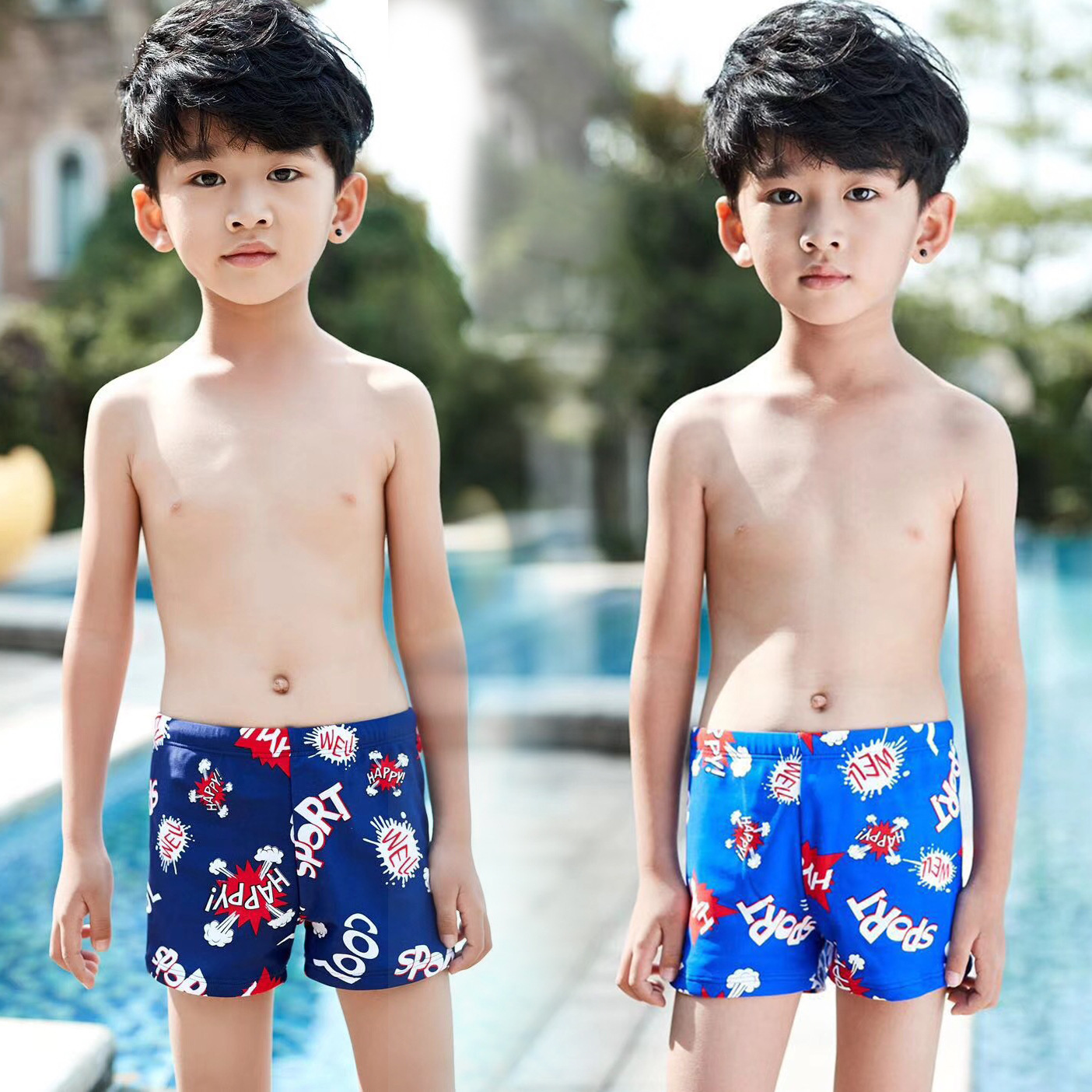 CHILDREN'S Swimming Trunks 10-13-Year-Old South Korea Men's Small CHILDREN'S Swimming Trunks Children Boxers 8802
