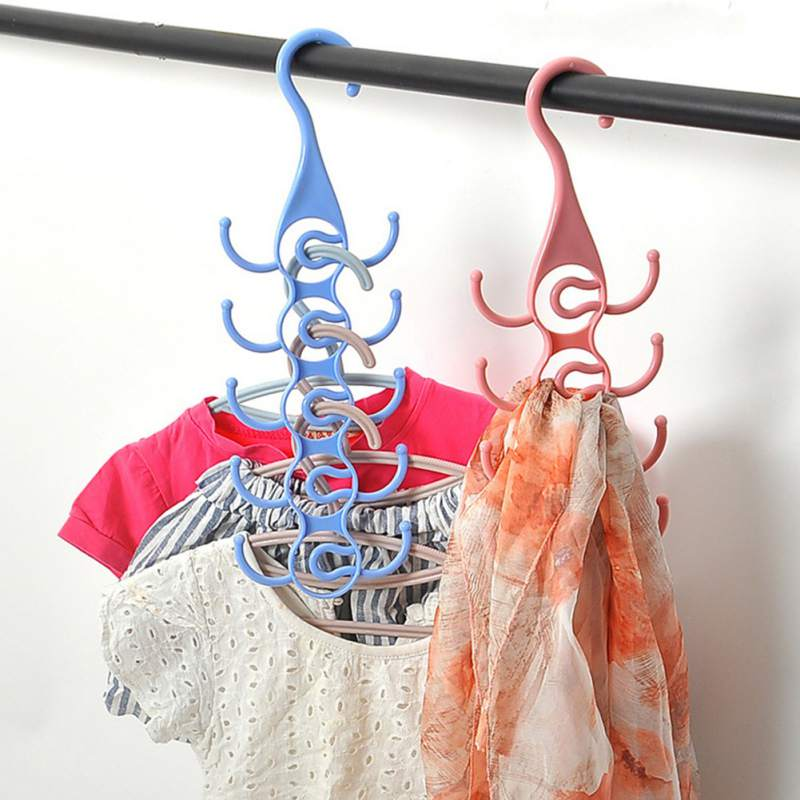 Unique Design Clothes Hanger Organizer Support Underwear Socks Hanger Drying Racks Plastic Scarf Cabide Storage Rack Hangers