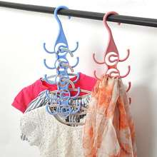 Unique Design Clothes Hanger Organizer Support Underwear Socks Hanger Drying Racks Plastic Scarf Cabide Storage Rack Hangers(China)