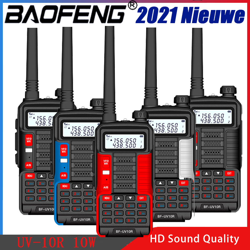 Baofeng UV-10R иди и болтай Walkie Talkie 10 Вт 5800 мА/ч, VHF Любительская рация двойного диапазона двухстороннее радио CB Ham Радио UV10R Портативный зарядка чер...
