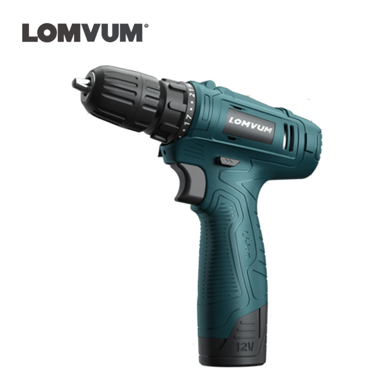 12V Lithium Battery Two Speed Household Min Cordless Screwdriver Charging Electric Torque Drill Hole Crew Driver Gun Power Tool