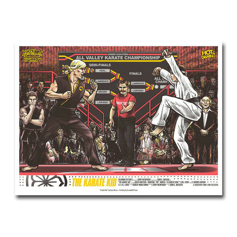 The Karate Kid Movie Silk Fabric Wall Poster Art Decor Sticker Bright image