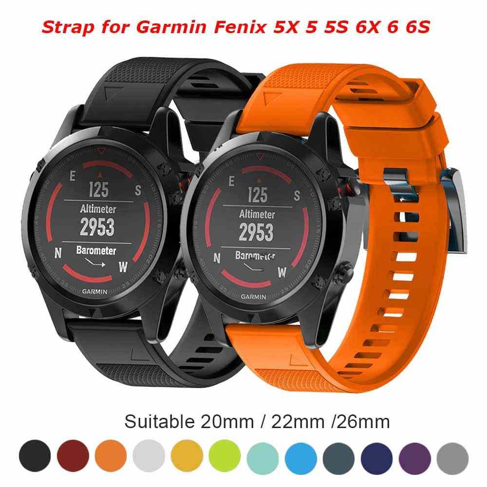 26 22 20 มม.สายนาฬิกาสำหรับ Garmin Fenix 5X5 5S 3 3HR D2 S60 นาฬิกา GPS quick ReleaseStainless แถบสายรัดข้อมือ