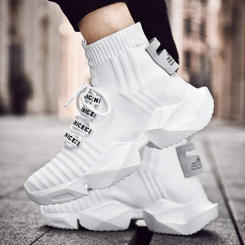 Dam yuan Men's Retro Sock Sneakers Chunky Men Shoes Breathable Men  2