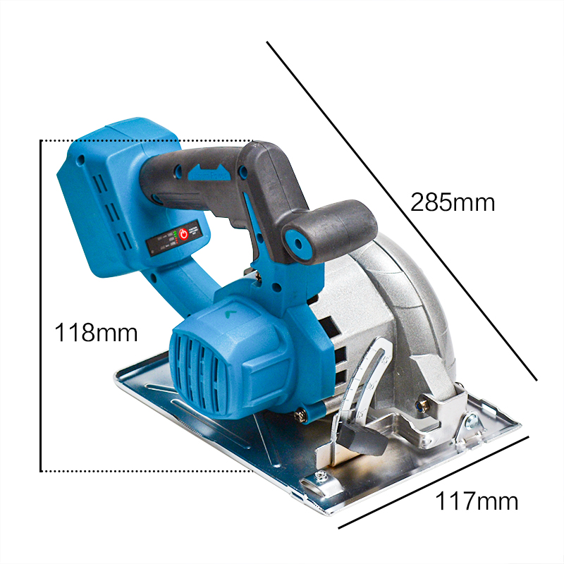 home improvement : 125mm 10800RPM Cordless Electric Circular Wood Cutter 0 to 45 Adjustable Curved Cutting Sawing Machine for 18V Makita Battery