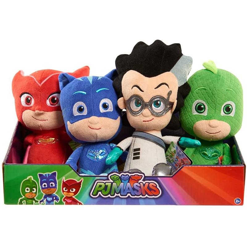 Genuine 20cm Cartoon Figures PJ Masks Catboy Owlette Gekko Cape Child Plush Masks Juguete Kids Toys For Children Birthday Gifts