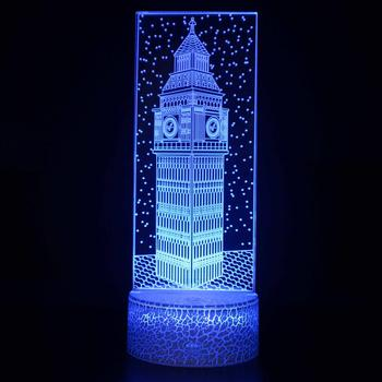Pyramid Eiffel Tower Table Lamps Statue Of Liberty White House Big Ben 3d Desk Lamp Globe Colorful 3d Small Night Deco Lamps