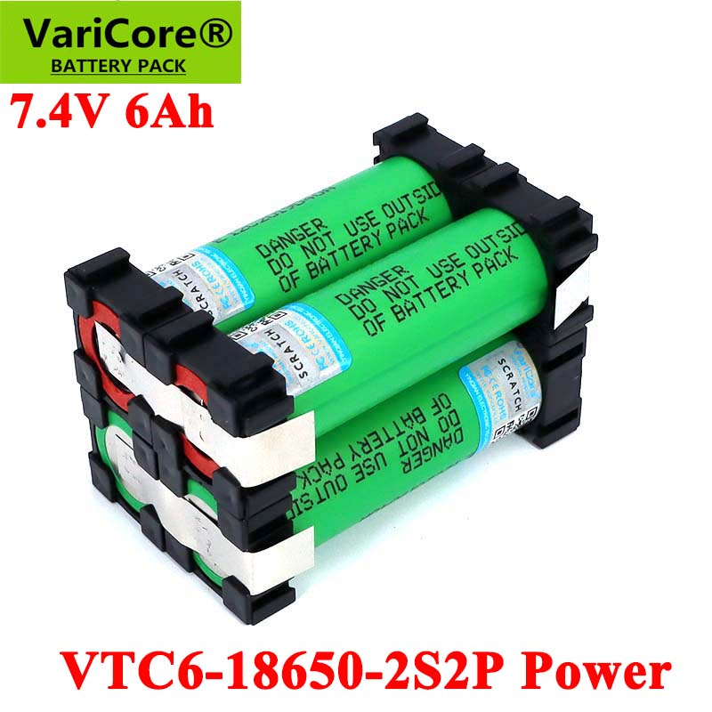 VariCore 5V/7.4V <font><b>18650</b></font> VTC6 2S2P 6000mAh 20 amps For wireless Screwdriver <font><b>batteries</b></font> DIY weld <font><b>battery</b></font> <font><b>pack</b></font> image