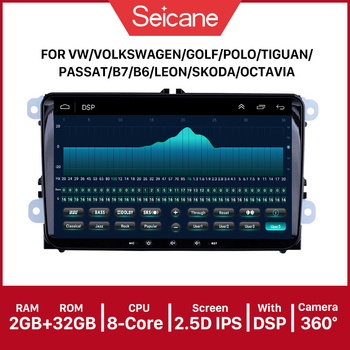Seicane 2.5D IPS Android 9.0 9 Car Multimedia Player 2 din GPS car Radio For Skoda/Seat/Volkswagen/VW/Passat b7/POLO/GOLF 5 6 image