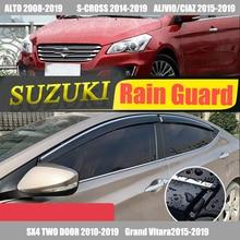 цена на For SUZUKI /ALTO/S-cross/Alivio/CIAZ/SX4/Grand Vitara/Swift/ Rain Guard /Guard Smoke Window Rain Window Wind Visor 2005-2020