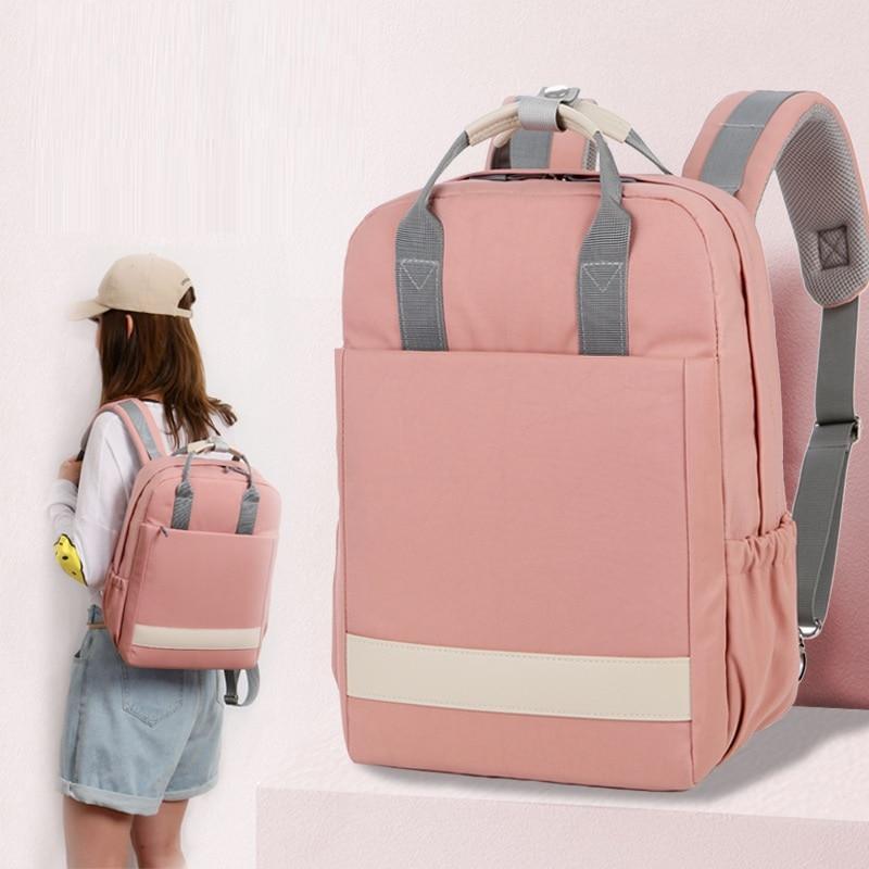 Backpacks Woman 2018 15 15.6 16 Inch Waterproof Canvas Teenager School Backpack For Laptop Korean Version Girls Boys Backpack