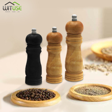 Mill-Grinder-Set Pepper Wood Seasoning Grinding-Core Spice Classical Stainless-Steel