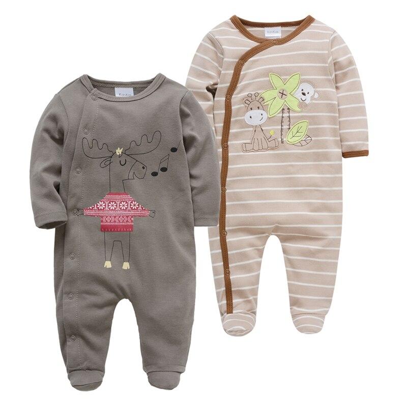 2019 Brand Baby Romper 2 Pcs/lot Long Sleeve Cotton Baby Clothes Roupa De Bebes 0 3 6 9 12 Months Jumpsuit