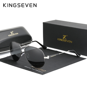 KINGSEVEN Men's Driving Glasses Aluminum 2020 Sunglasses Men Polarized Pilot Frame Anti-Glare Mirror Lens Fishing Women Eyewear