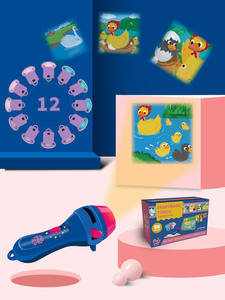 Projection Lamp Educational-Light-Up-Toys Kids Flashlight Story-Book Preschool Fairy Tale