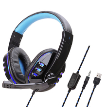 Gaming Headset Bass Stereo Wired Cuffie Con Microfono Tablet PC Del Computer Portatile Cuffie Auricolare 3.5mm Cavo Adattatore Per PS4 X Box