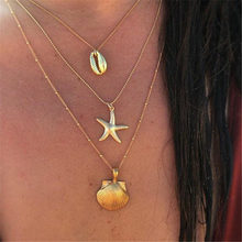 Necklace Multilayer Shell Starfish Pendant Bohemian Seashell Ocean Beach Jewelry Female Party Gifts