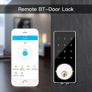 Image 2 - Smart Lock Keyless Entry Türschloss Riegel Digitale Elektronische Bluetooth Türschloss mit Tastatur Auto Lock Hause touch bildschirm sperren