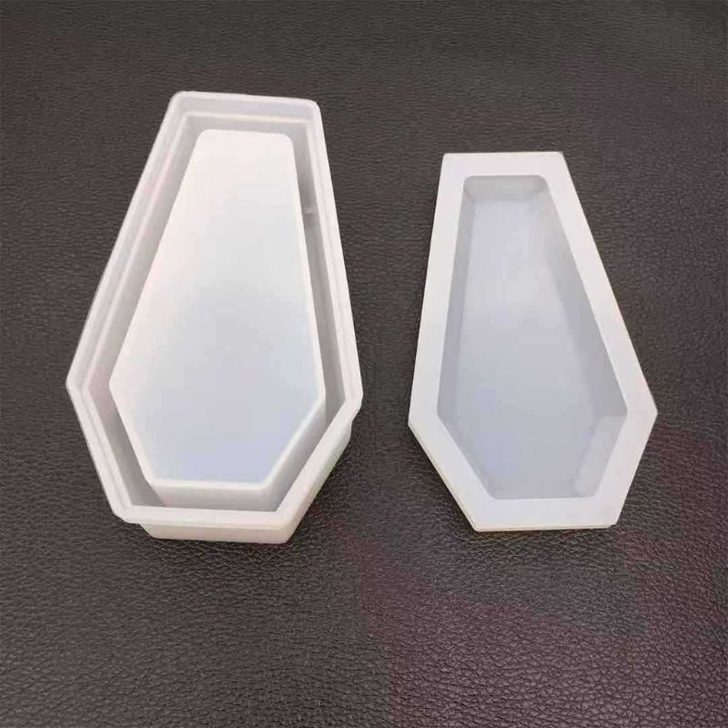 DIY Crystal Epoxy Mold Storage Box Molds Dark Vampire Coffin High Mirror Crafts Making Mould 50PE
