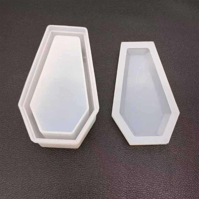 DIY Crystal Epoxy Mold Storage Box Molds Dark Vampire Coffin High Mirror Crafts Making Mould 50PE