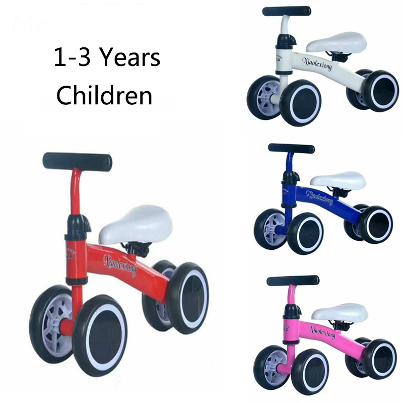 Baby Balance Bike 1 Year Old Boys Girls Bicycle Riding Toys and Walker, No Pedal Infant 4 Wheels for 10-25 Months Toddler