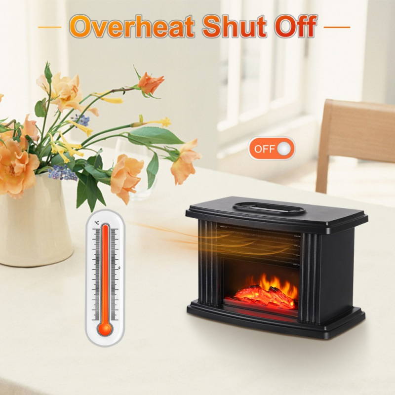 Portable Electric Heater Personal Space Warmer PTC Heating With 12H Timer 3 Gear Adjustable Overheat Tip-Over Protection