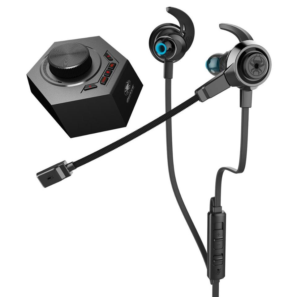 PLEXTONE G50 3.5mm Wired Gaming Control Earphone-Black