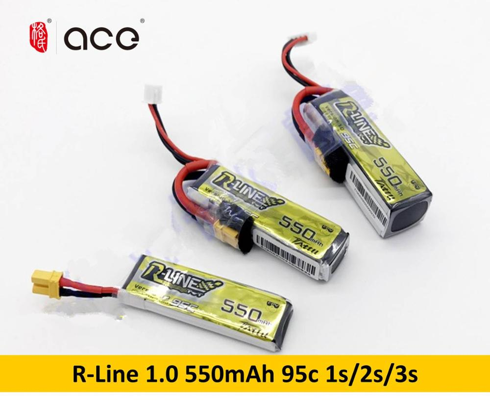 Gens Ace Tattu R-Line 1.0 LiPo Rechargeable Battery 500mAh 550mAh 95C 1S 2S 3S1P For RC FPV Racing Drone Quadcopter
