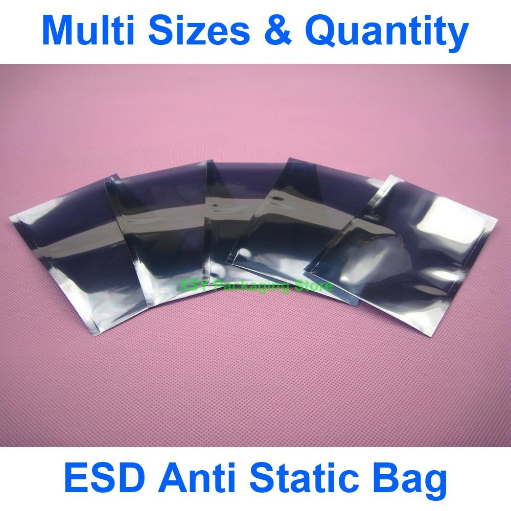 """Разные размеры ESD Антистатический пакет электронная упаковка (ширина 2,8 """"-4"""") x (длина 4,7 """"-6"""") eq. (70-100 мм) x (120-150 мм)"""